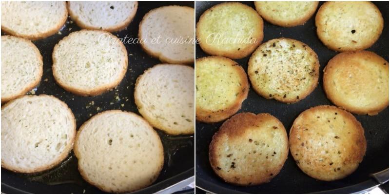 crouton pain de mie ail et fines herbes