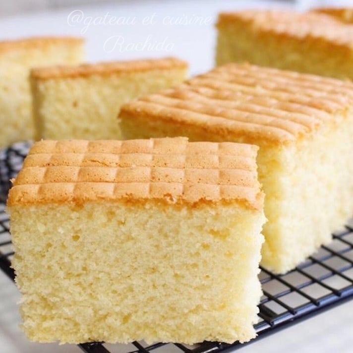 Cake au lait façon castella japonais