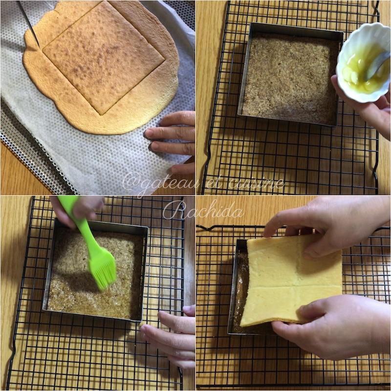 moelleux aux amandes et streusel -entremets cassis vanille