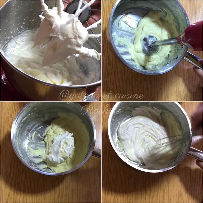 mousse vanille légère -entremets cassis et vanille