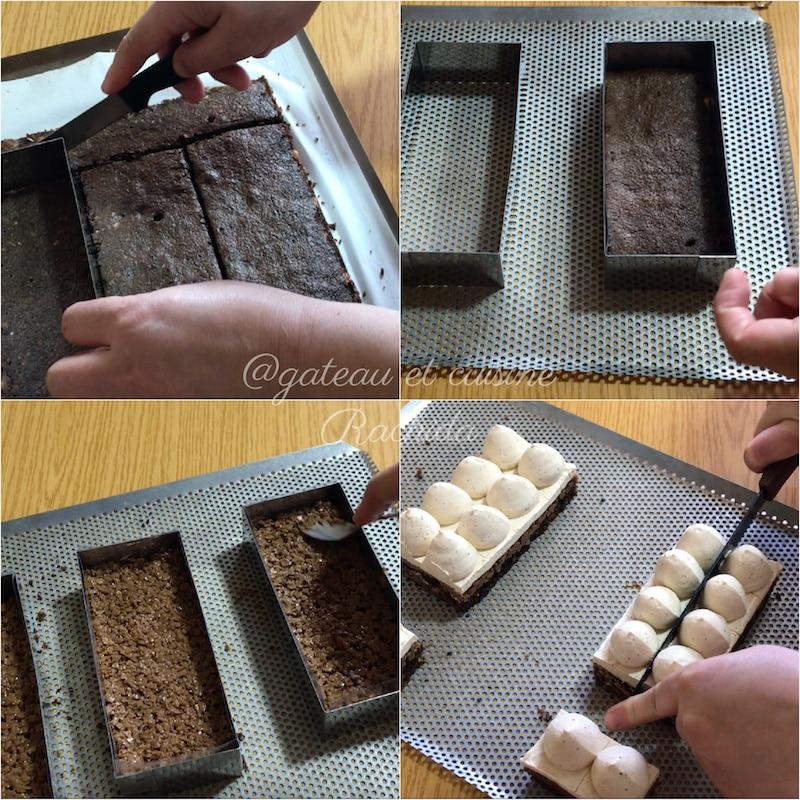 brownie noisette et croustillant pour entremet praliné