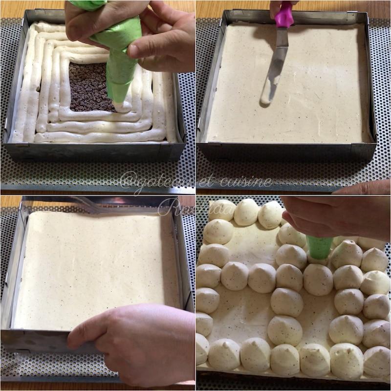 gâteau au chocolat et praliné avec croustillant