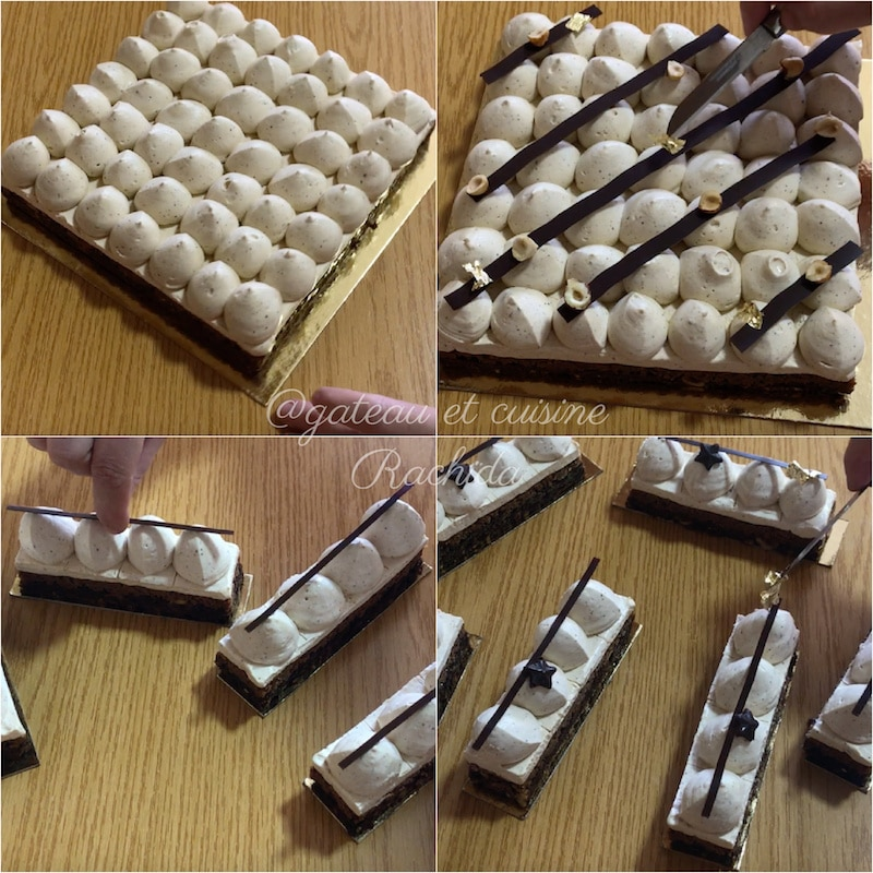 entremets praliné chocolat noisettes -gâteau d'anniversaire