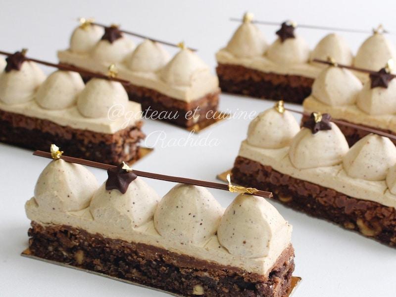 recette entremet chocolat et praliné avec brownie
