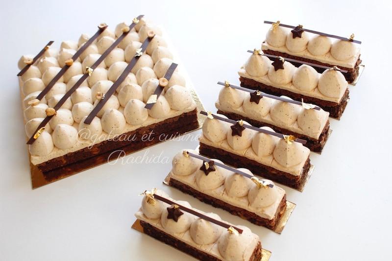 recette entremets chocolat et praliné le jaubourg