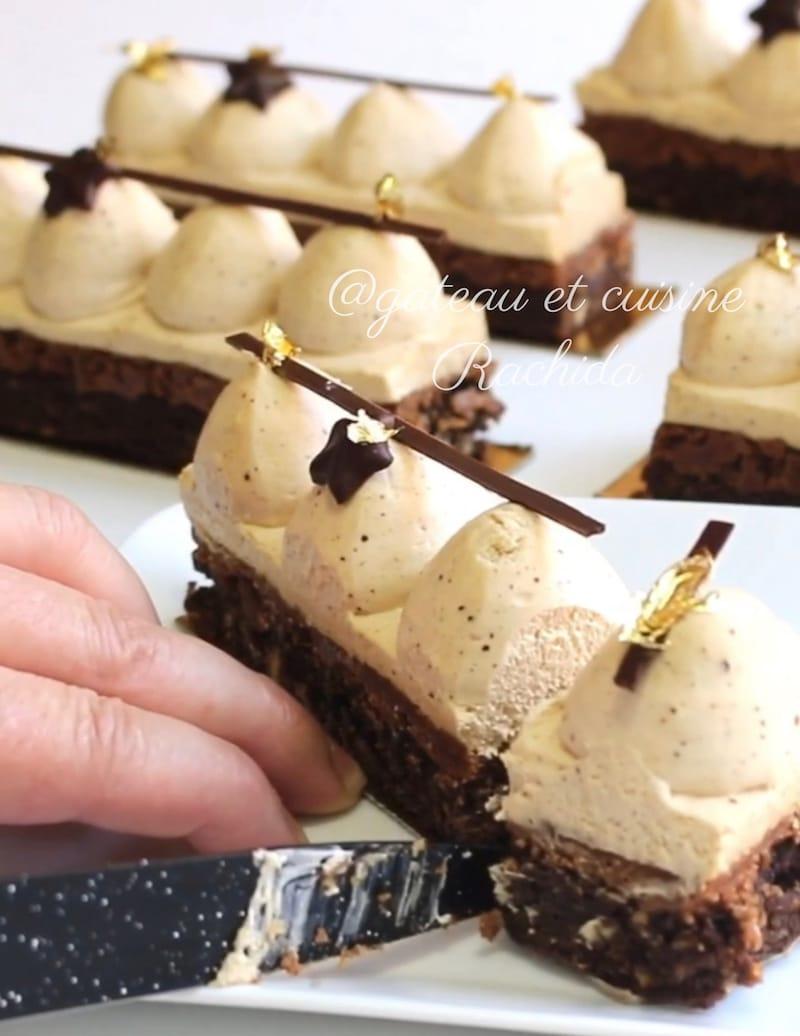 entremets au praliné et chocolat -idée gâteau d'anniversaire