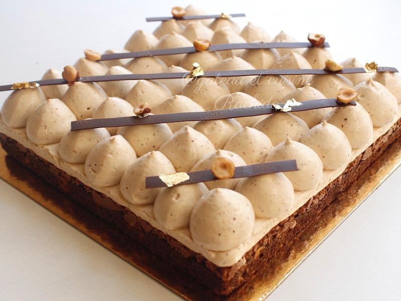 entremet chocolat et praliné jaubourg -les rois du gâteau