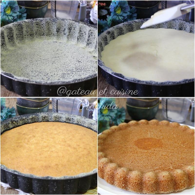 recette de basboussa à la crème - gâteau à base de semoule