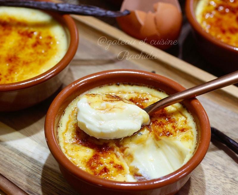 crème brulée à la vanille -recette dessert facile
