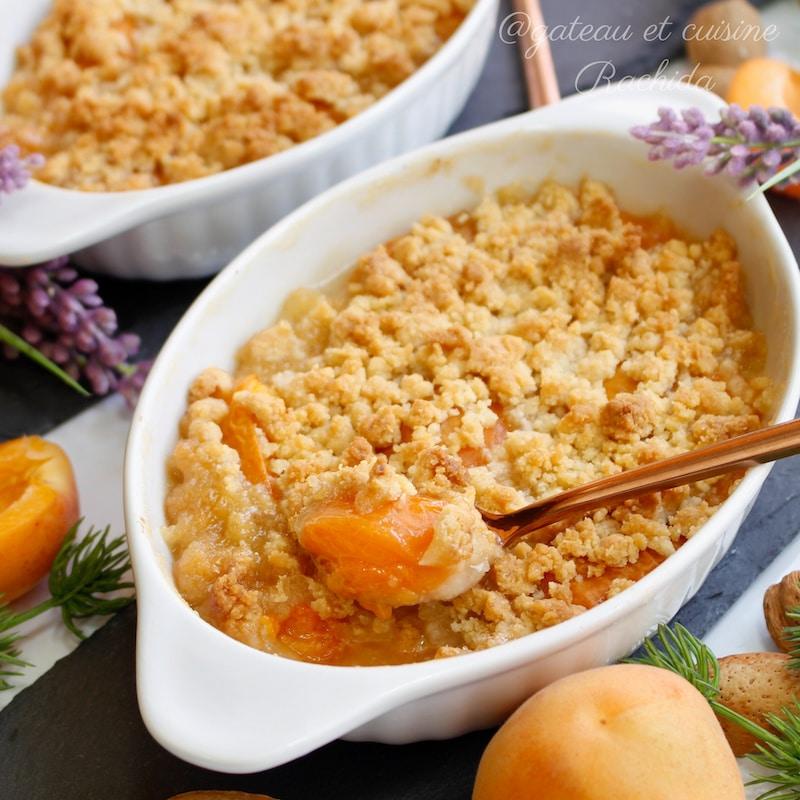 recette crumble abricot facile