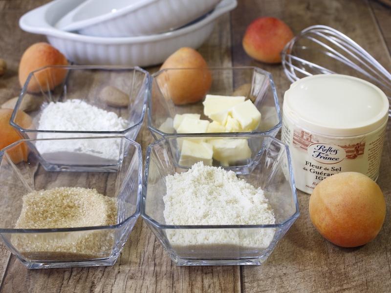 ingrédient crumble abricot
