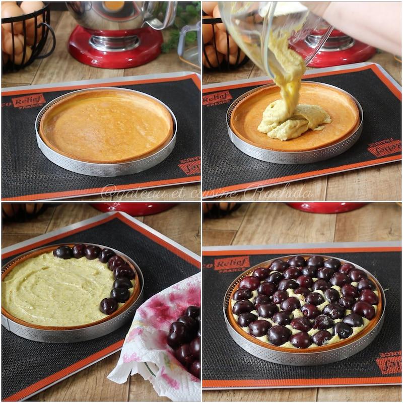 tarte aux cerises et crème de pistache
