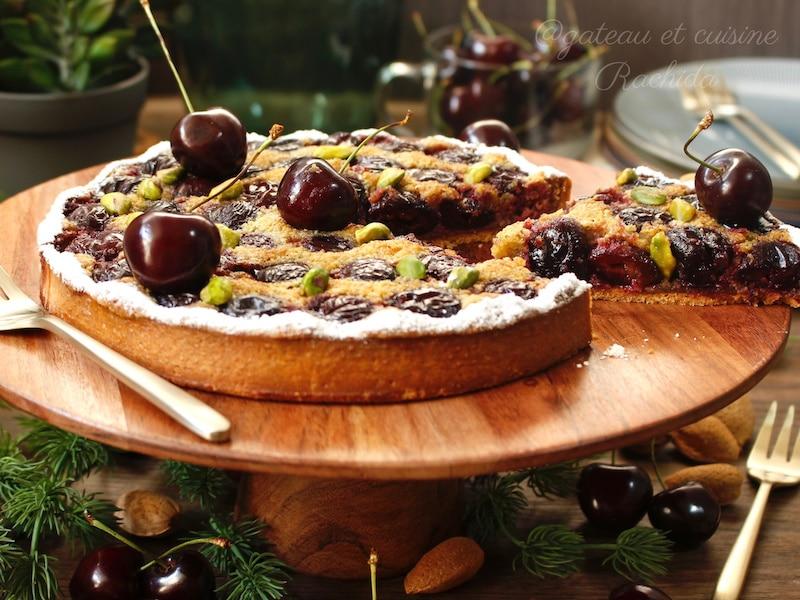 excellente tarte aux fruits cerises et pistache