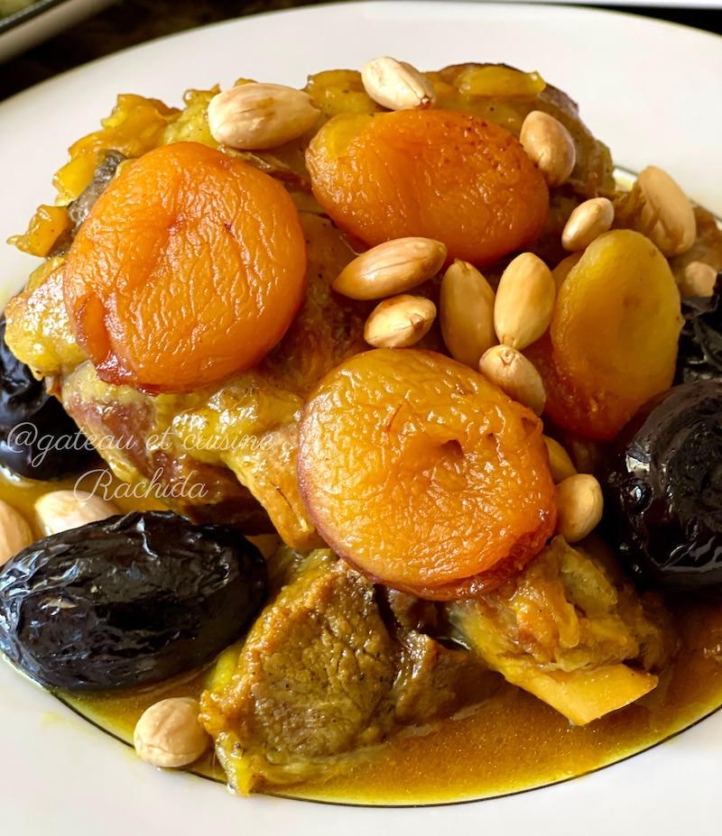 tagine marocain viande aux pruneaux et abricots secs