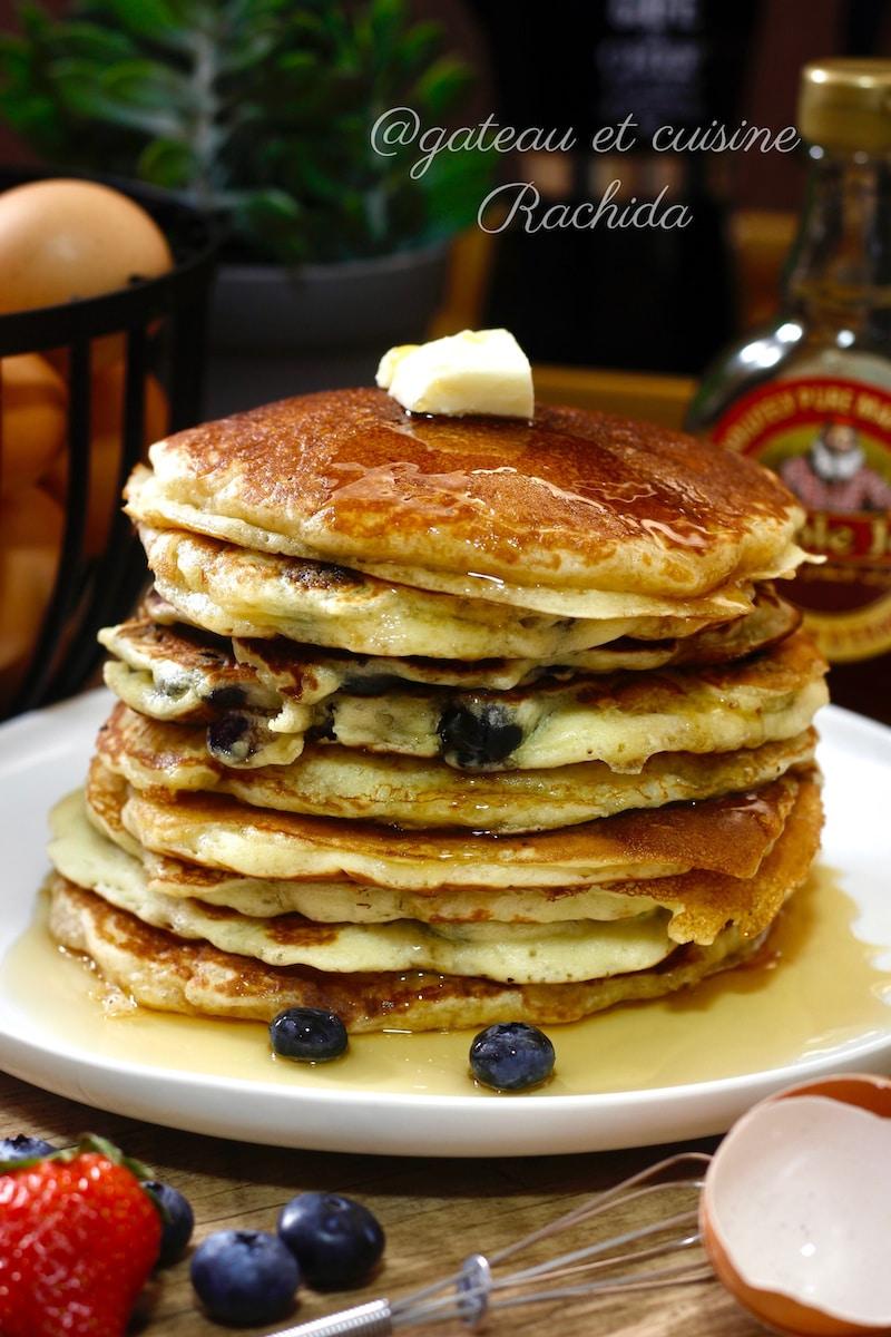 recette pancakes fluffy au babeurre et sirop d'érable