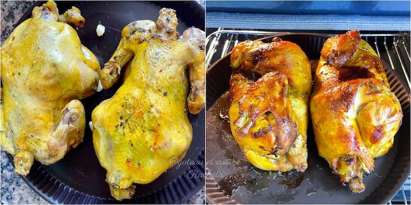 poulet roti au four pour cérémonie mariage marocain