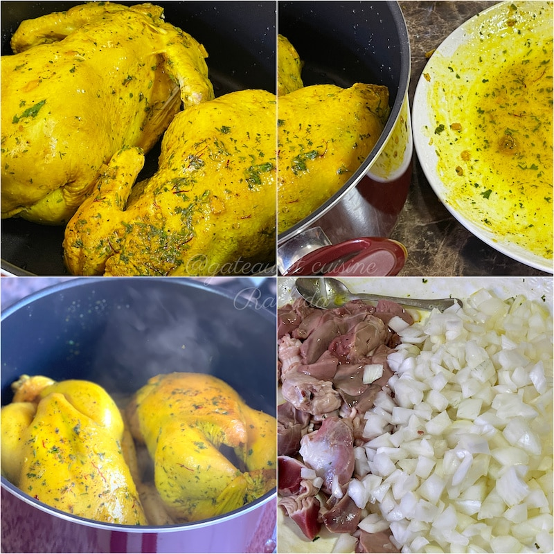 recette tajine de poulet roti -djaj mhammer