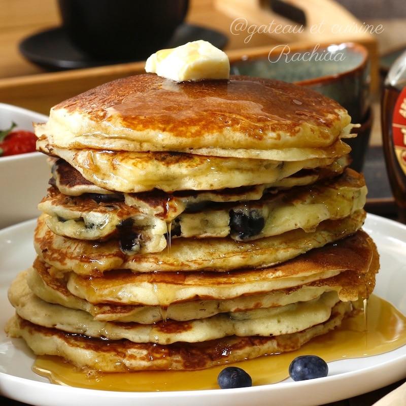 recette pancakes moelleux au sirop d'érable