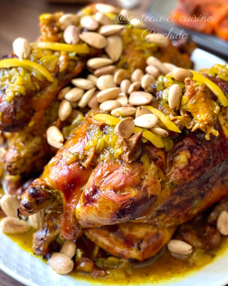 Poulet citron confit aux olives ou amandes gillées