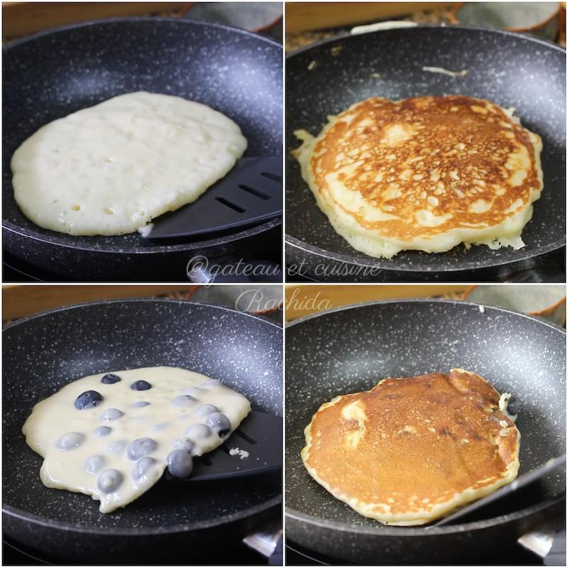 cuisson des pancakes épais et moelleux