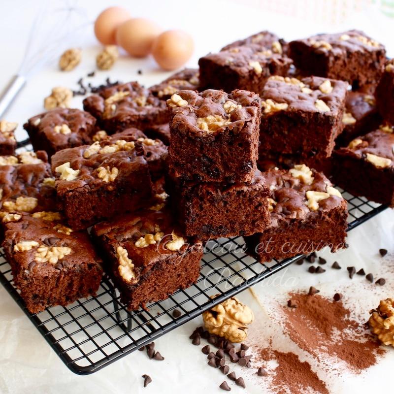 gâteau au yaourt au chocolat façon brownie